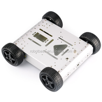 4WD Aluminum Mobile Robot Car Chassis of Arduino Robot Platform