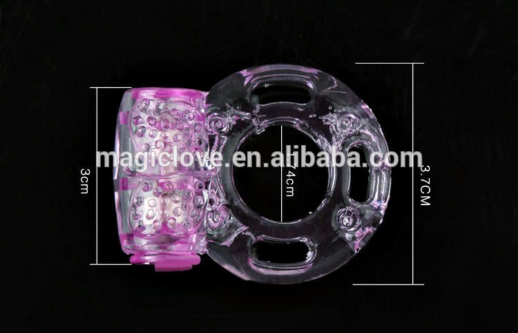 TPE pussy stimulate ring wholesale button vibrating penis ring low price cock ring with vibrator