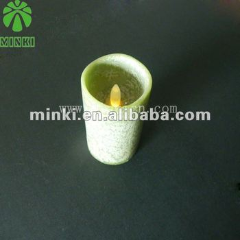 Artificial colorful body flamelss electric flickering candle light