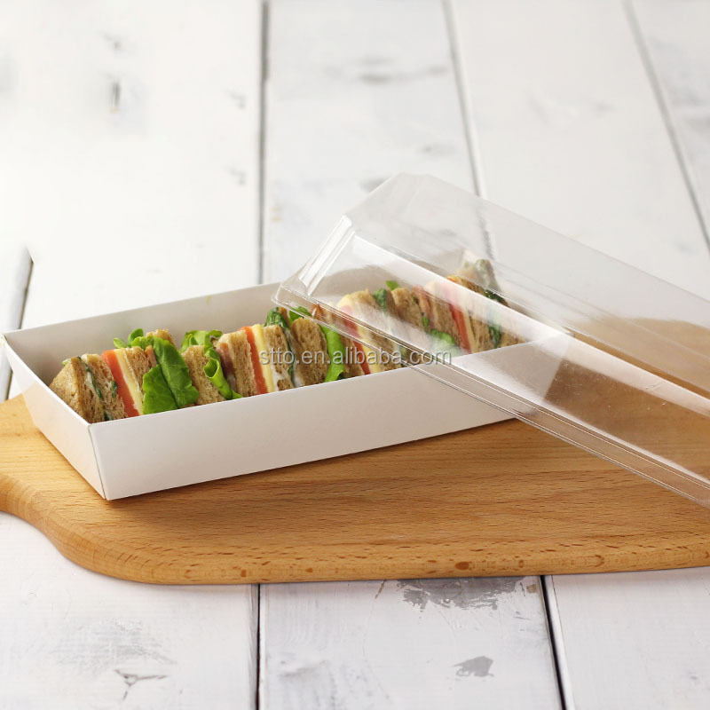 White Little Sandwich Hot Dog Cake Packaging Boxes