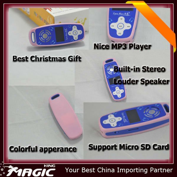 mini mp3 player with built in speaker