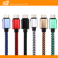 Aluminium Alloy round wire USB Data Cable for Android Cellphone