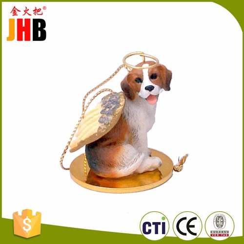 JHB Personalized Christmas Tree Ornaments Angel Dog for Wholesale