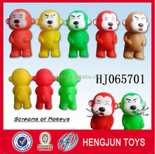 EN71/ASTM/7P novelty style eco-friendly soft plastic toy shrilling monkey from shantou toys factory