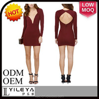 hot selling wine red sexy short prom dress 2014