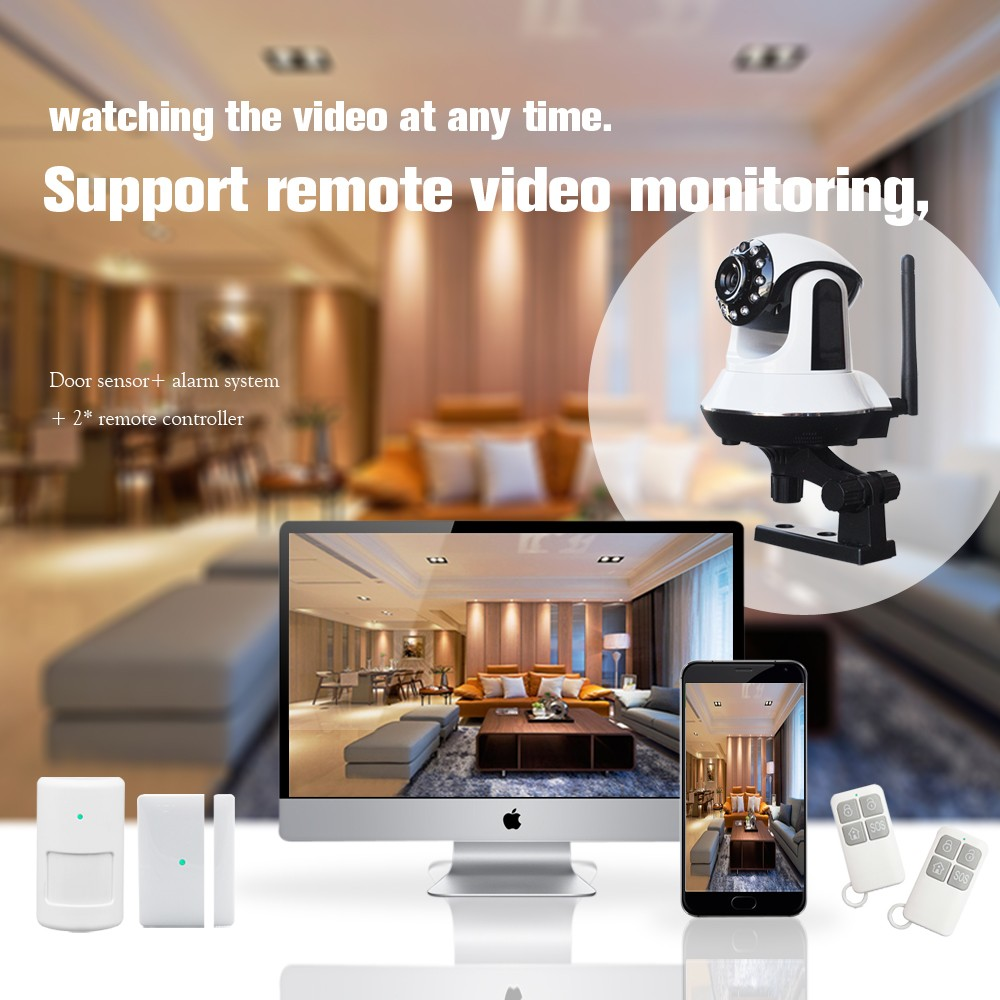 GSM 3G/wifi HD network video monitor multi platform real time control cctv camera Wireless alarm security systems