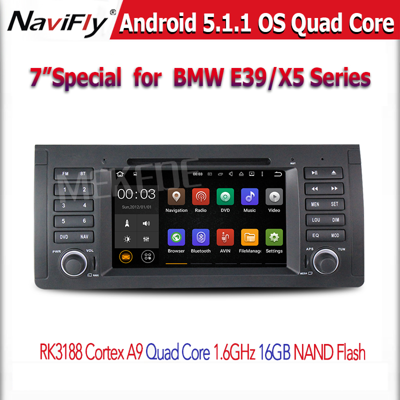 HD1024X600+Factory price +android 5.1 Quad Core CAR DVD player GPS Navigation For BMW E53 E39