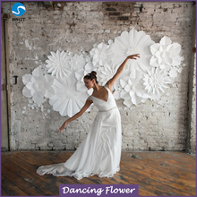 Wedding decorative artificial flowers wall