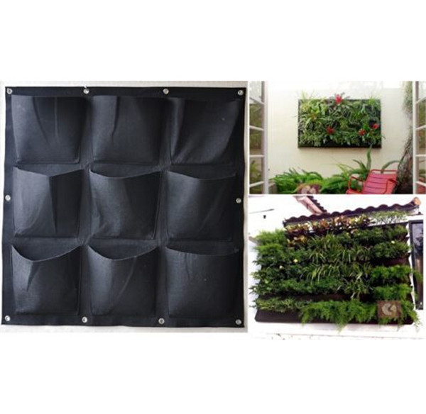 Indoor Gardening Market Size Of Large 9 Pocket Hanging Vertical Garden Planter Indoor