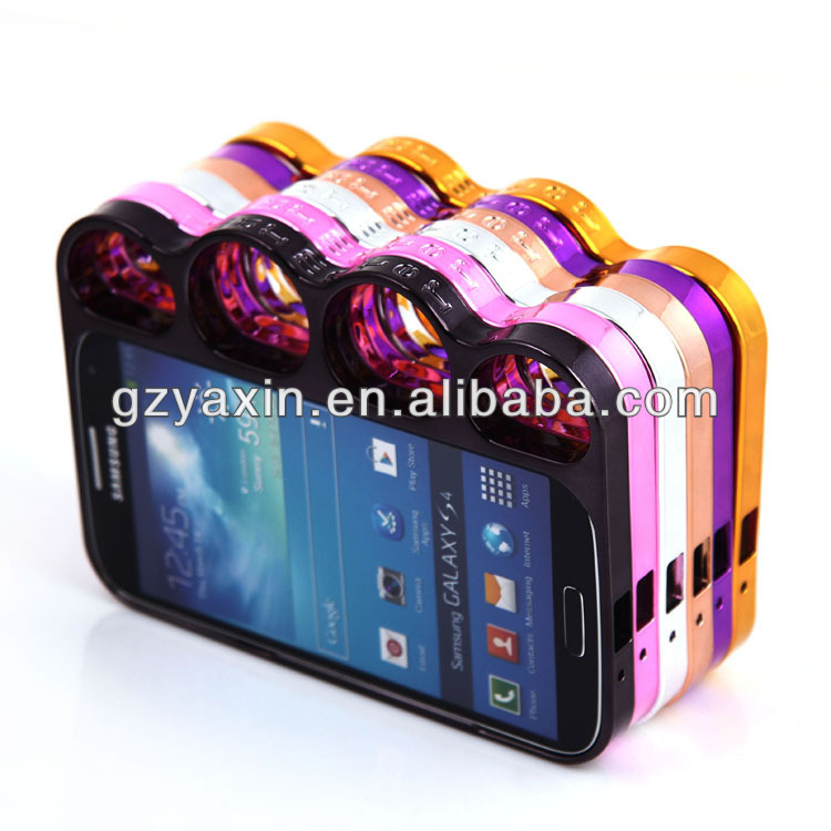 Chrome knuckle case for samsung galaxy s4,s5 and 4s,5s