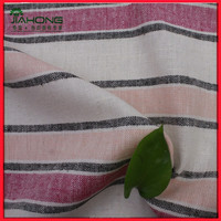 Hot sale!!linen rayon stripe woven yarn dyed fabric