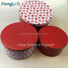 Custom printed Festival cake tins and Set of 3 different size tin container for storing food candy cake or biscuit