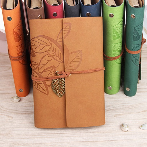 Thermo PU leather loose leaf elastic band notebook
