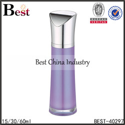 60ml 2oz colored peal white pink blue purple plastic skincare pump bottle acrylic material