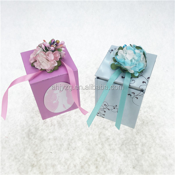 right angle square vintage tin box for wedding return gift