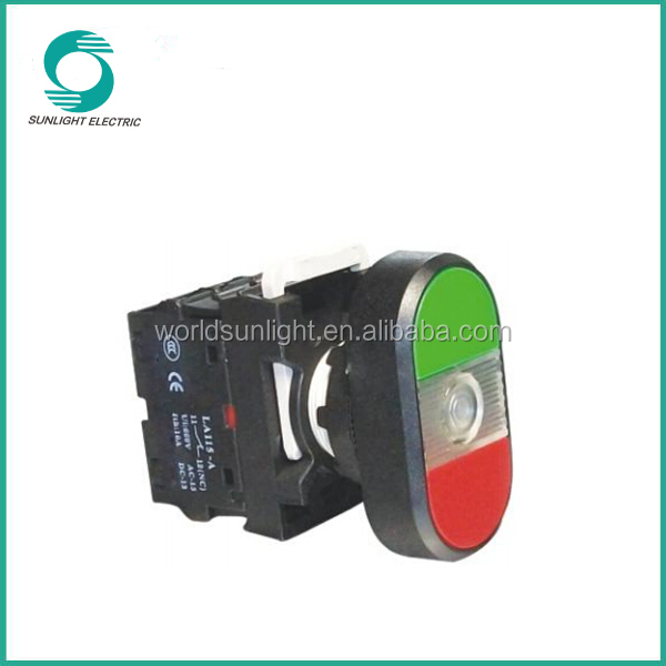 LA115-A1 series, 25mm china supplier waterproof illuminated start stop plastic push button switch