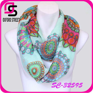 New arrival voile 2014 spring printing scarf