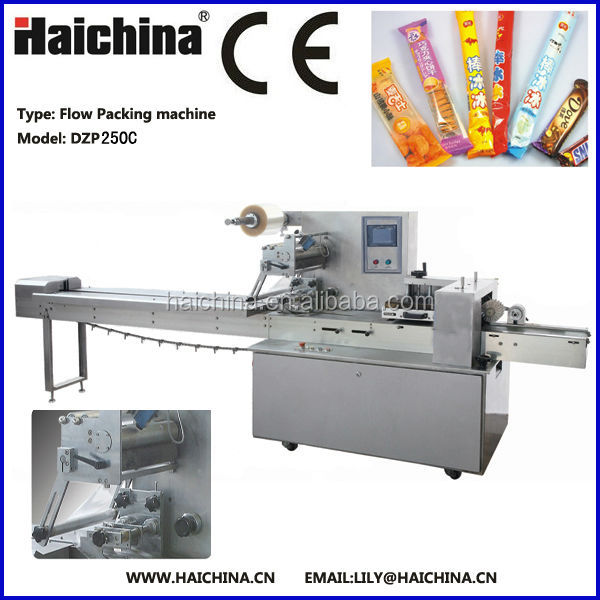 Factory price High speed Multi-purpose DZP 250C Automatic Chocolate flow wrapping Machine