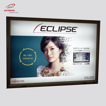 Factory costom supermarket advertising light box movie poster for sale