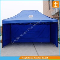 Folding pop up tent canopy with full color diginal printing