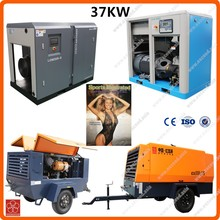 200 CFM Screw or diesel or electric & oil free air compressor 37kw