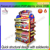 Large capacity metal supermarket equipment snacks and fruit and vegetable display rack/shelving