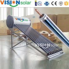 Vision company solar energy water heater slogan with heat pipe collector