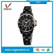 Fashion lady ceramic watch ladies ceramic watch with white band black band made in china