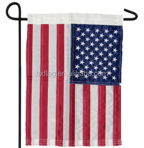 "High Quality 12x18 Embroidered USA American 50 Star Nylon Sleeved Garden Flag 12""x18"""