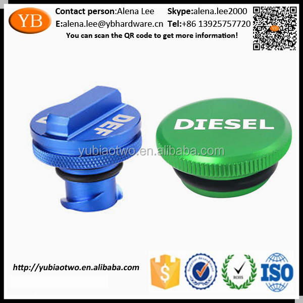 Hot 2013-2017 Dodge Ram Diesel Billet crimp Aluminum Fuel Cap