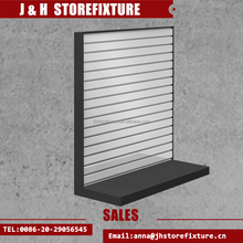 Signle Side Display Fixture Aluminum Slatwall L Shaped Merchandiser