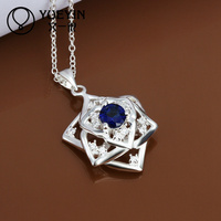 2014 sapphire stone 925 sterling silver charms wholesale