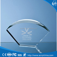 Acrylic Stand Fan-shaped Trophy with No Base Acrylic Crystal Trophy and Award