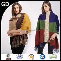 GDK0108 With pendant design keep warm shawl scarf multicolor handmade wool scarves