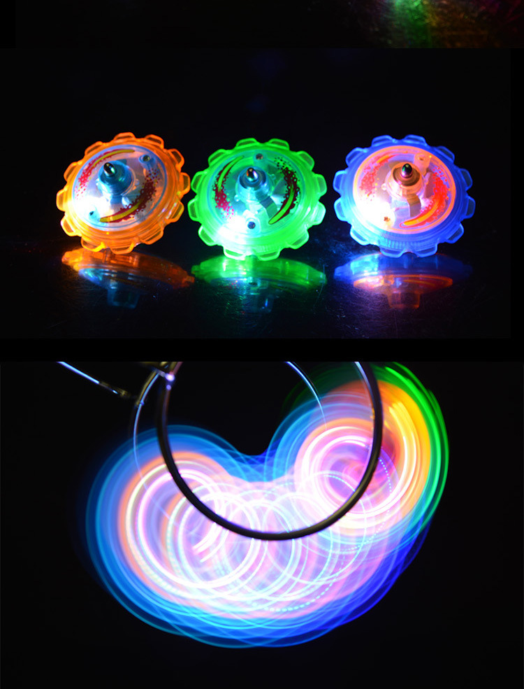 2016 Wholesale Colourful Magnetic Gyrol Flashing LED Yoyo Spinning Top