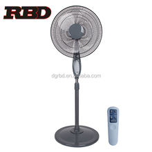 China Factory 16 inch 18 inch Electric Stand Fan Plastic Ventilating Pedestal Fan with 7.5h Timer and Remote Control