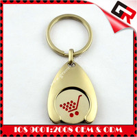 Hot selling best alloy key chain for girl