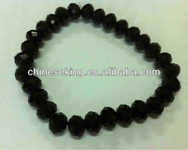 faceted crystal beads bracelet elastic crystal beads bracelet stretchable glass bead bracelet