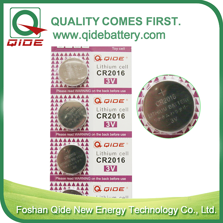 Standard standard CR2016 lithium button cell battery