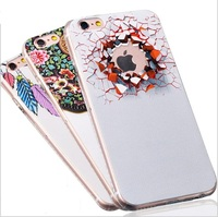 Mobile Phone case Soft TPU Color Embossed Printed phone case with dust proof for samsung galaxy s7 case