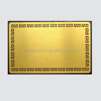 Sublimation blank aluminum metal business card buy for Blank metal business cards