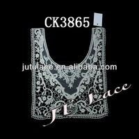 2013 Fashion Flower Applique Embroidery Collar CK3865