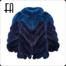 Factory directly wholesale price women's herringbone imported fox fur jacket