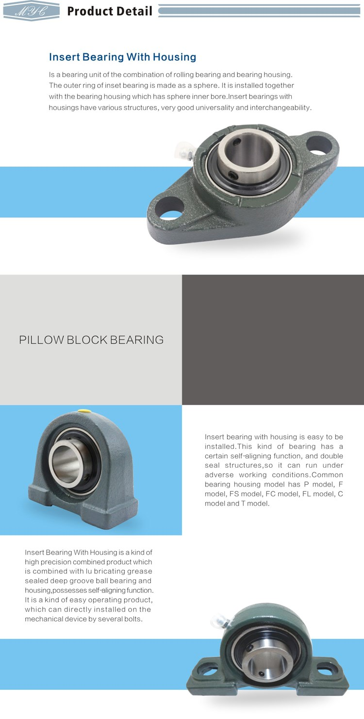 Alibaba recommend waterproof flanged housing adjustable pillow block bearing p208 p205 p206 p207 p211 p212 f208