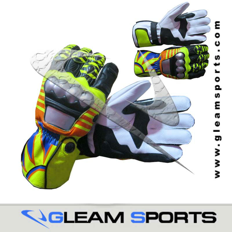 Rossi 2013 motorbike leather racing gloves