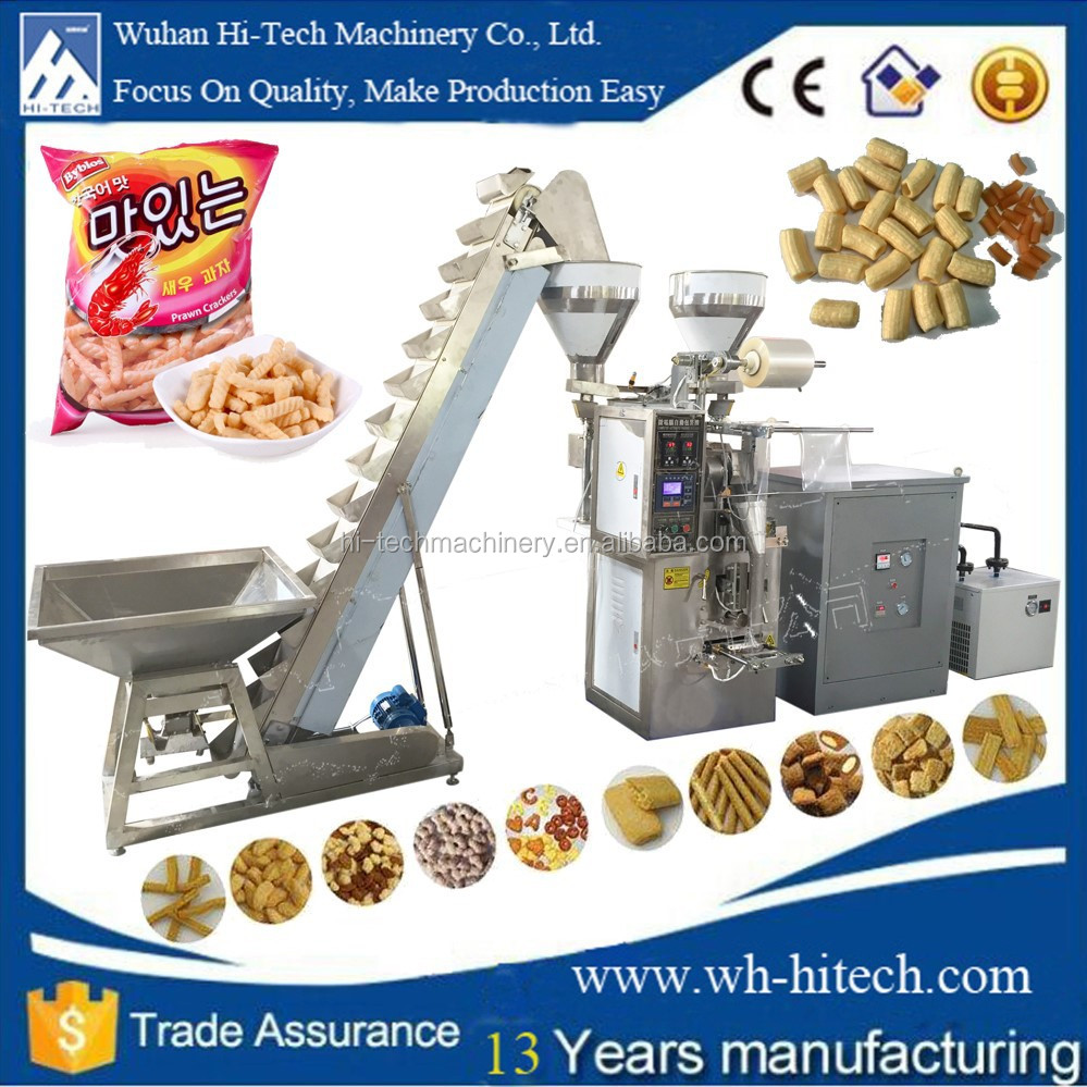 Automatic dry snacks food packaging machine popcorn packaging machine