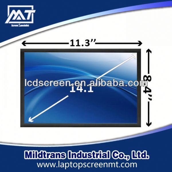 100% original replacement Laptop LCD screen B141XG10 V.0 mini laptop hdmi touch for 14.1 inch notebook