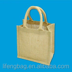 Wholesale Customer jute bag with cotton rope handle