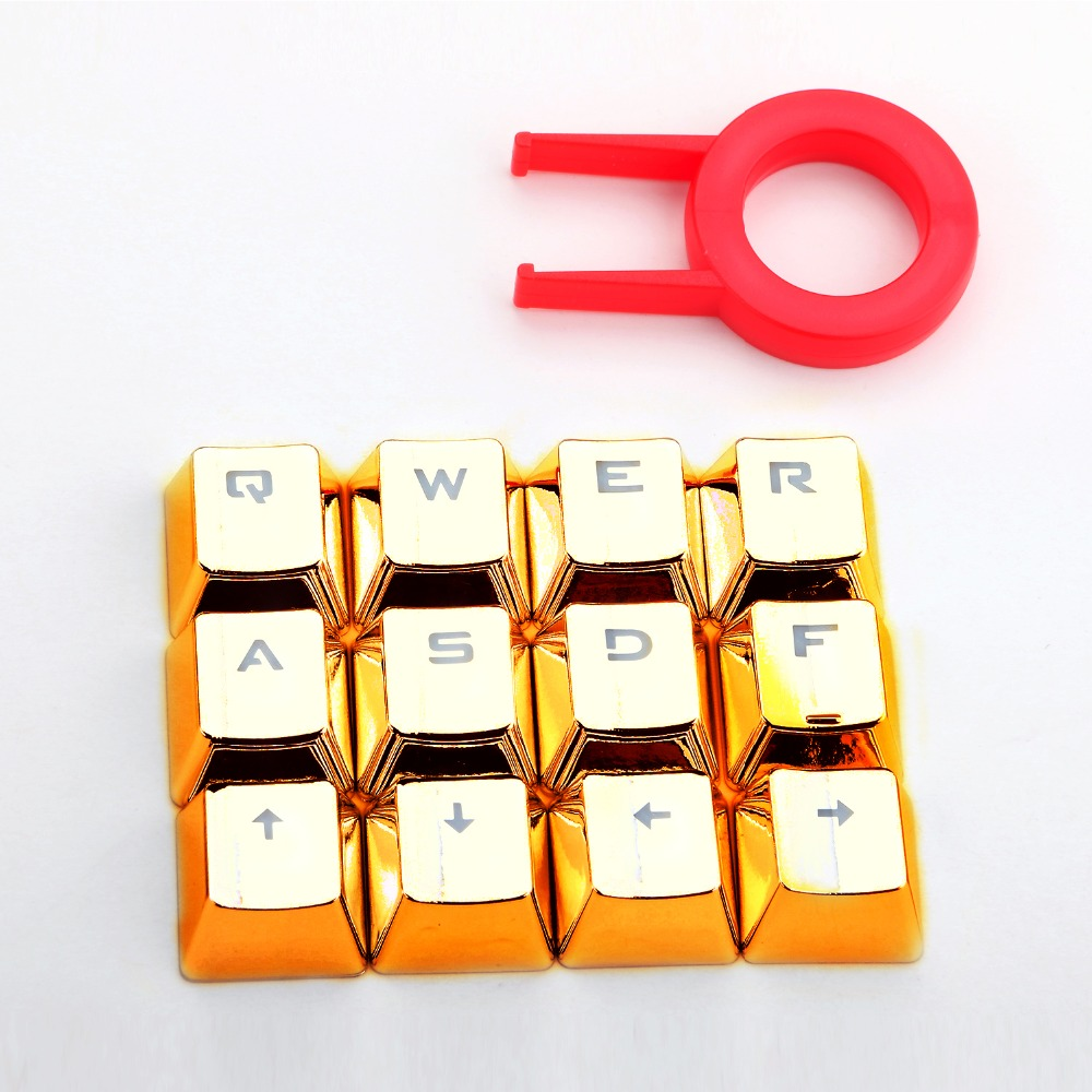 DIY Doubleshot Gold Key Cap For Cherry mx Outemu Mechanical Keyboard Bicolor mold PBT Keycap with puller