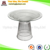 (SP-GT406) Modern Tempered glass Wire platner dining knoll table